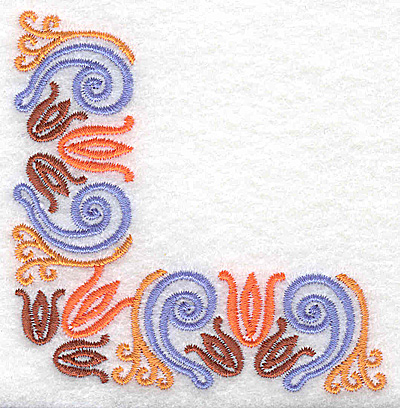 Embroidery Design: Corner 4 3.37w X 3.37h