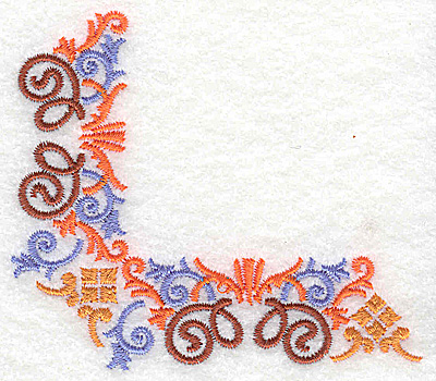 Embroidery Design: Corner 6 3.52w X 3.11h