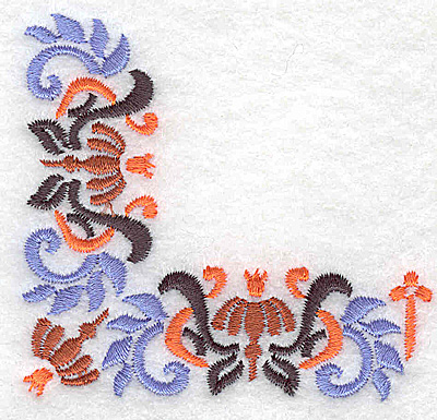 Embroidery Design: Corner 7 3.00w X 2.79h