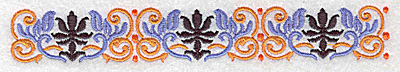 Embroidery Design: Border 8 6.98w X 1.01h