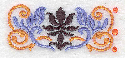 Embroidery Design: Mini border piece 8 2.35w X 1.01h