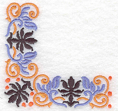 Embroidery Design: Corner 8 3.20w X 3.13h