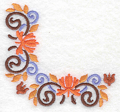 Embroidery Design: Corner 9 3.09w X 2.89h