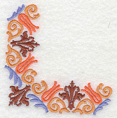 Embroidery Design: Corner 10 3.11w X 3.12h