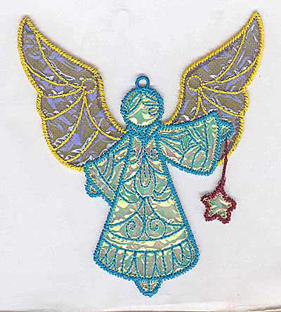 Embroidery Design: Angel 1a Ornament 4.37w X 5.06h