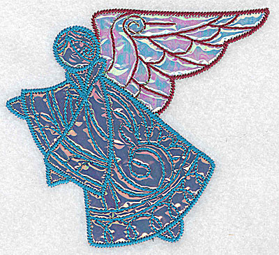 Embroidery Design: Angel 2 two applique fabrics 5.04w X 4.63h