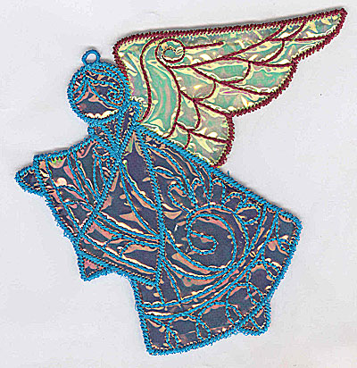 Embroidery Design: Angel 2a Ornament 5.04w X 4.63h