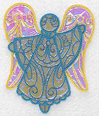 Embroidery Design: Angel 3 three applique fabrics 4.19w X 5.06h