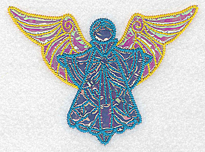 Embroidery Design: Angel 5 three applique fabrics 5.08w X 3.72h