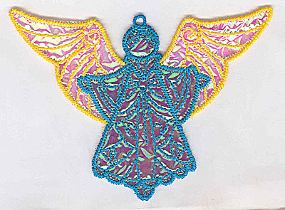 Embroidery Design: Angel 5a Ornament<br> 5.08w X 3.72h