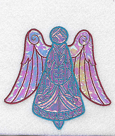 Embroidery Design: Angel 6 three applique fabrics 5.06w X 4.86h