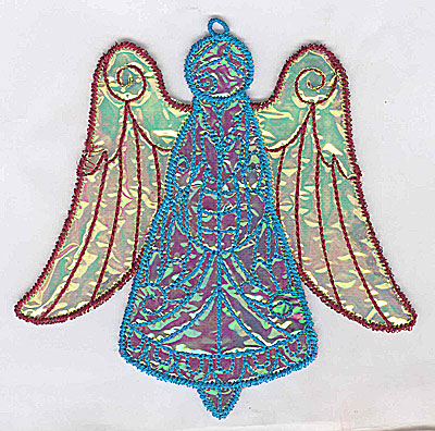 Embroidery Design: Angel 6a Ornament 5.06w X 5.06h