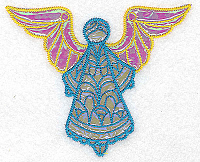 Embroidery Design: Angel 7 three applique fabrics 5.05w X 4.14h