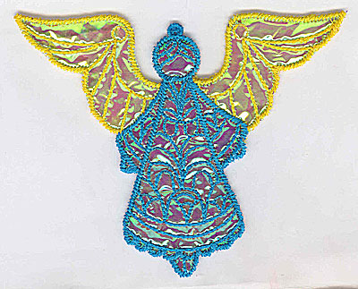 Embroidery Design: Angel 7a Ornament 5.05w X 4.14h