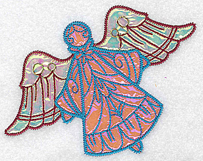 Embroidery Design: Angel 8 three applique fabrics 5.06w X 4.03h