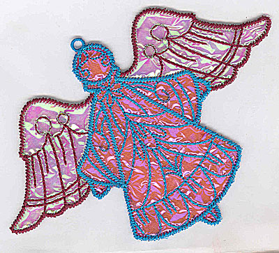 Embroidery Design: Angel 8a Ornament 5.06w X 4.03h
