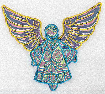 Embroidery Design: Angel 9 three applique fabrics 5.06w X 4.50h