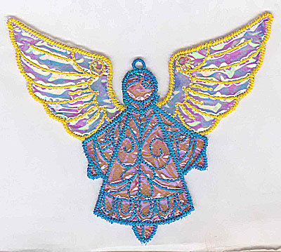 Embroidery Design: Angel 9a Ornament 5.06w X 4.50h