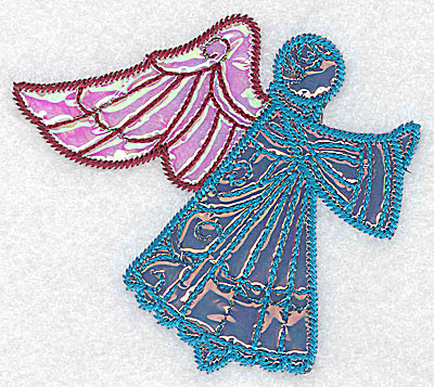Embroidery Design: Angel 10 two applique fabrics 4.06w X 3.58h
