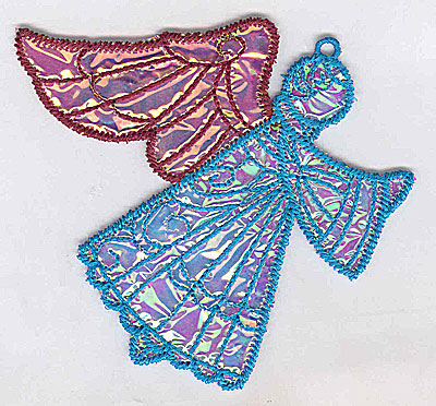 Embroidery Design: Angel 10a Ornament 4.06w X 3.61h