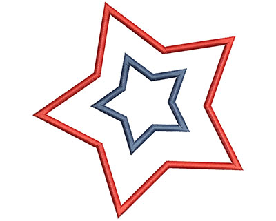Embroidery Design: 4th of July Star Applique 4.54w X 4.69h