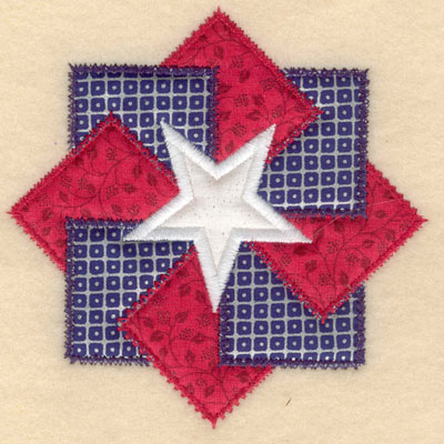 Embroidery Design: Center star with three appliques small5.00w X 5.00h