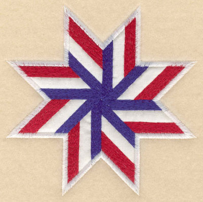 Embroidery Design: Star shape white applique small5.00w X 5.00h