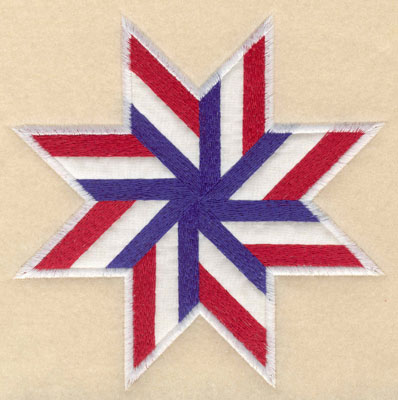 Embroidery Design: Star shape white applique large 6.00w X 6.00h