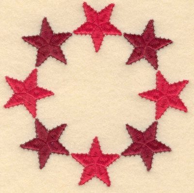 Embroidery Design: Circle of stars small5.00w X 5.00h