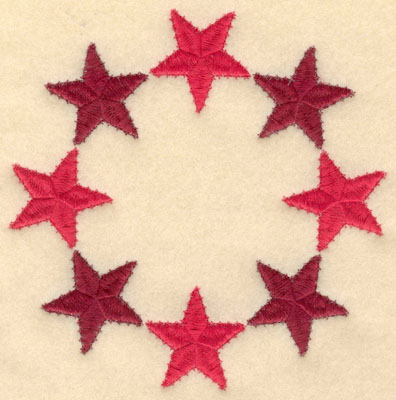 Embroidery Design: Circle of stars large6.00w X 6.00h