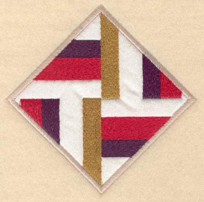 Embroidery Design: Diamond shape stripes with applique sm5.00w X 5.00h