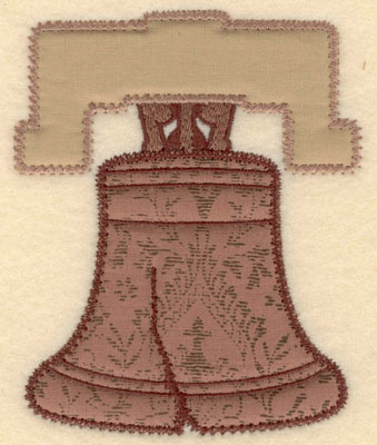 Embroidery Design: Liberty bell double applique small4.09w X 5.00h