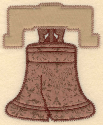 Embroidery Design: Liberty bell double applique large4.91w X 6.00h