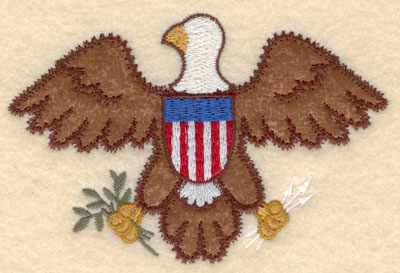 Embroidery Design: American Eagle applique small5.00w X 3.28h