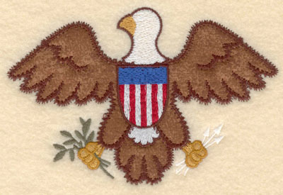 Embroidery Design: American Eagle applique large6.00w X 3.92h