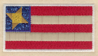 Embroidery Design: American flag double applique small5.00w X 2.66h