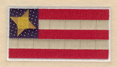 Embroidery Design: American flag double applique large6.00w X 3.16h