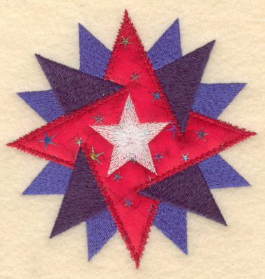Embroidery Design: Star within star applique small4.82w X 5.00h