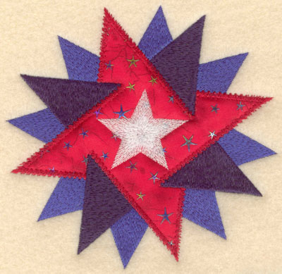 Embroidery Design: Star within star applique large5.78w X 6.00h