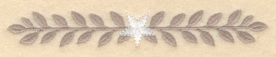 Embroidery Design: Laurel leaves with center star small6.00w X 0.87h