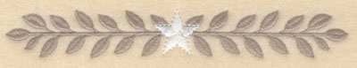 Embroidery Design: Laurel leaves with center star large7.20w X 1.04h