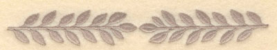 Embroidery Design: Laurel leaves double small6.00w X 0.85h