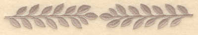 Embroidery Design: Laurel leaves double large7.20w X 1.02h