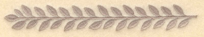 Embroidery Design: Laurel leaves single small6.00w X 0.85h