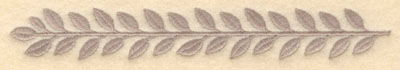 Embroidery Design: Laurel leaves single large7.20w X 1.02h