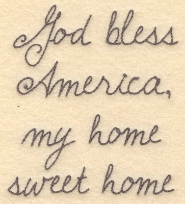 Embroidery Design: God bless America small4.45w X 5.00h