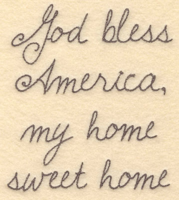 Embroidery Design: God bless America large5.34w X 6.00h