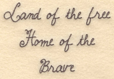 Embroidery Design: Land of the free small5.00w X 3.35h