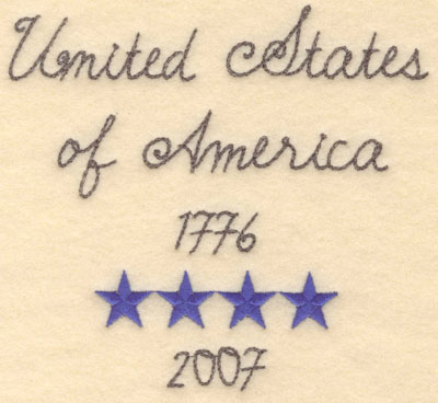 Embroidery Design: United States of America large6.00w X 5.54h