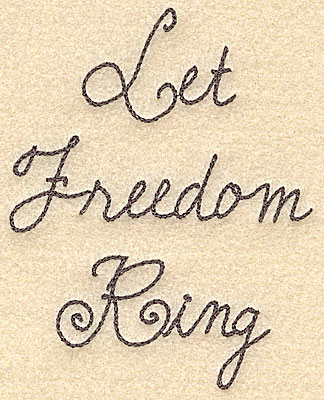 Embroidery Design: Let freedom ring small3.97w X 5.00h